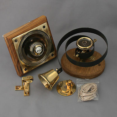 Brass Claverley Front Door Bell Pull & Bell 7 • CAD $324.92