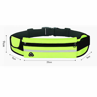 Running Belt Unisex Sport Jogging Phone Keys Mobile Money Bum Bag Waist Travel 6