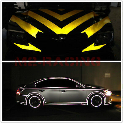 """*12""""x48"""" Reflective White Vinyl Wrap Sticker Decal Graphic Sign Adhesive Film"""