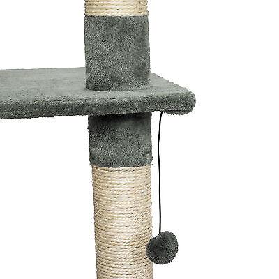 Arbre à chat XXL griffoir grattoir jouet animaux douillet geant peluché gris 6