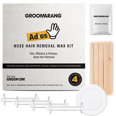 Groomarang Adios Nez Oreille Épilation Cire Kit Indolore & Facile Homme Nasal 5