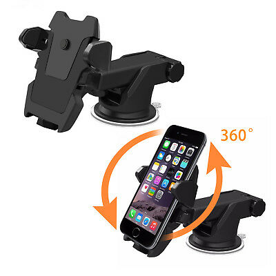 Universal 360° Windshield Mount Car Holder Cradle For GPS Mobile Smart Phone 8