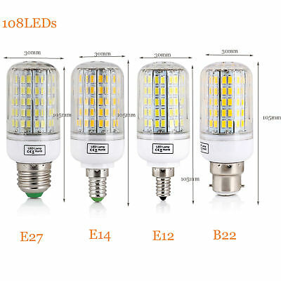 E27 E14 E12 B22 LED Corn Bulb 5730 SMD Light Corn Lamp Incandescent 20W - 160W 9