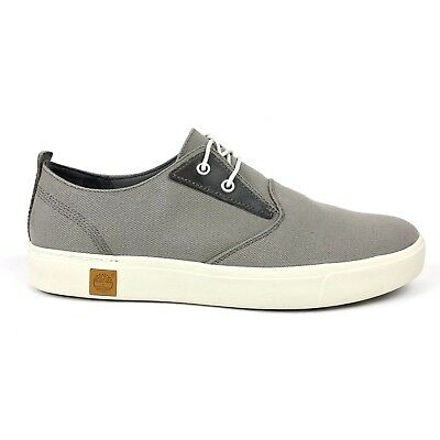 Timberland Men/'s Amherst Grey Canvas Lightweight Oxford Shoes Style A1A14