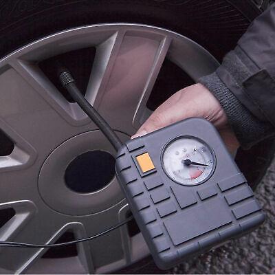 AA 12V Car Tyre Air Compressor Inflator LED Pump Pressure Gauge Cigarette Socket 4