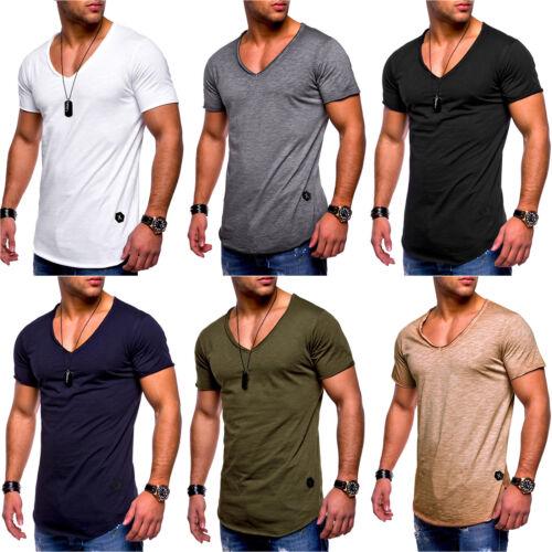 Herren Sommer Kurzarm Shirts Bodybuilding Muskelshirt Slim Fit T-Shirt Oberteil