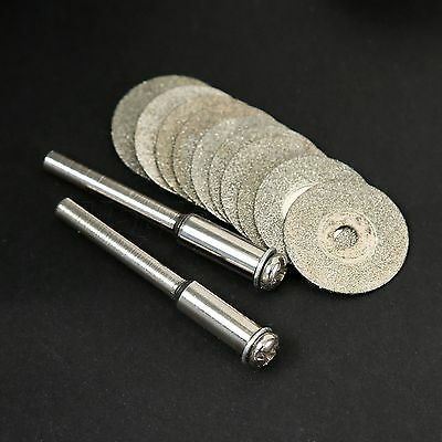 10pc 16mm Diamond Cutting Cut Off Blade Disc Wheel Rotary Tool Drill For Grinder 2