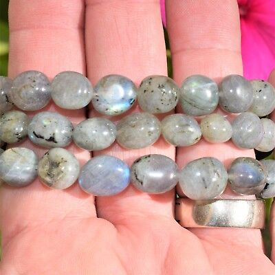 CHARGED Labradorite Crystal Bracelet Tumble Polished Stretchy ENERGY REIKI 4