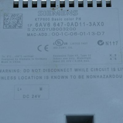 1Pc Used Siemens 6AV6 647-0AD11-3AX0 Tested It In Good Condition 2