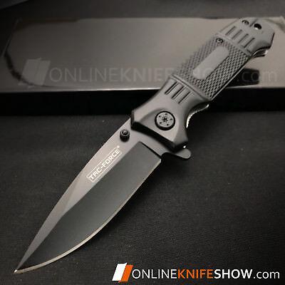 """7.75"""" TAC-FORCE SPRING ASSISTED TACTICAL FOLDING POCKET KNIFE Blade Open Assist 4"""