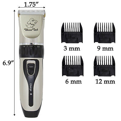 Pet Grooming Clippers Kits Low Noise Dog Cat Rechargeable Cordless Hair Trimmer 6