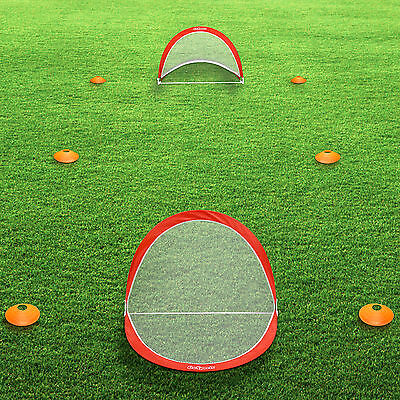 06b004f63 ... GoSports 2.5 FT Portable Pop-Up Soccer Goal Set (2 Goals 6 Cones &