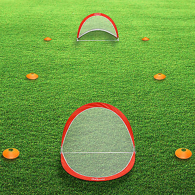 2 Of 9 GoSports 6 FT Portable Pop Up Soccer Goals (Set Of 2 + 6 Cones