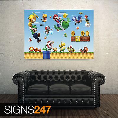 Super Mario Bros Classic Movie Large Poster Art Print Maxi A1 A2 A3 A4