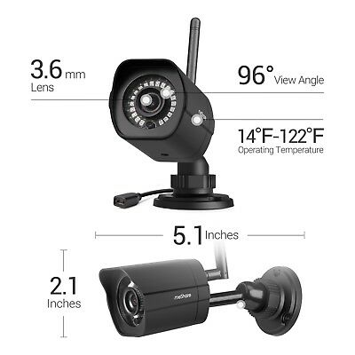 meShare 1080p Outdoor Wireless Security Camera 2 Pack Smart Motion Detection