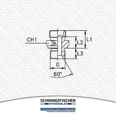 Einschraubverschraubung GE Hydraulik zölliges Gewinde Baureihe L Größe wählbar 4