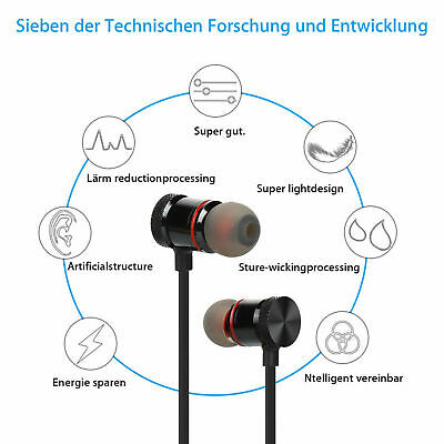 Auricolari Bluetooth Cuffie Magnetiche Sportive Wireless Stereo Xt-6 Fitness 6
