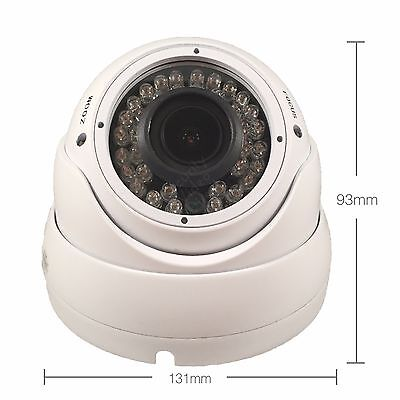 ... 1000TVL SECURITY CAMERA 2.8-12mm DOME CCTV OUTDOOR IR WDR SONY 1.4MP CMOS Mount