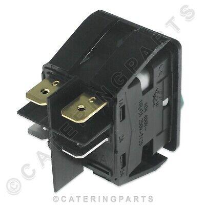 Genuine Moffat Rocker Switch 1003A 230V On Off Illuminated Green Hot Cupboard 8