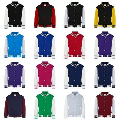Kinder College Jacke mit Wunschdruck viele Farben Partnerlook Jacken JH043K0.5 5