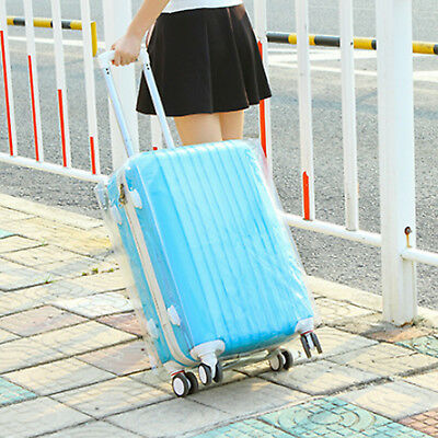 Plastic Travel Luggage Suitcase Cover Protector Scratch Dustproof Bag 20 24 28 2