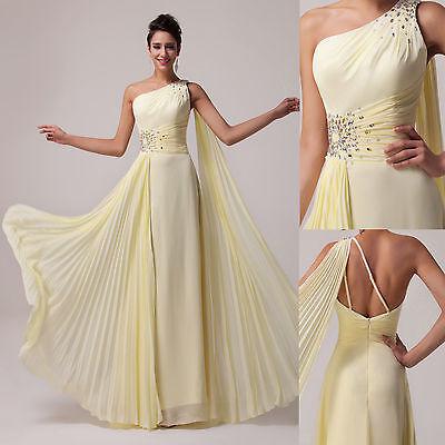 Gelb Lang Brautjungfernkleid Abendkleid Brautmutter Party Ballkleider GR,32-44++
