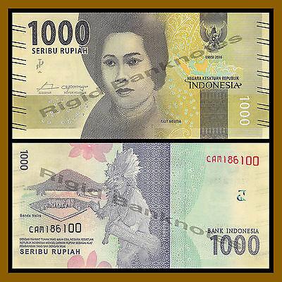 INDONESIA 10000 10,000 RUPIAH NEW 2016 x 100 Pcs Lot Full Bundle DANCER UNC NOTE