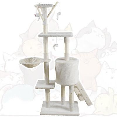 🐈JL Comfurni Cat Tree Sisal Scratching Post Kitten Scratcher Nest Tower High 7