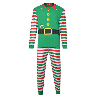 Christmas Pyjamas Family Xmas Elf Theme Ex Store Mum Dad Kids Pj Sets Night Wear 4