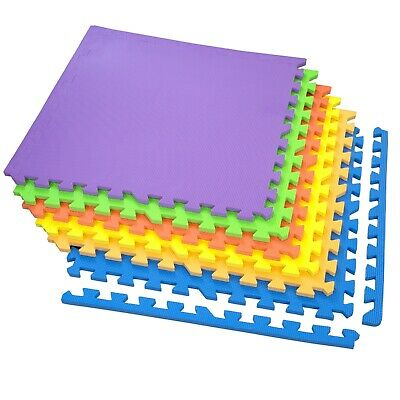 IncStores 24 SQFT Rainbow Play Interlocking Foam Floor Puzzle Mat - 6 Tiles 7
