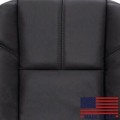 2007-2013 CHEVY AVALANCHE SILVERADO SEAT COVER DRIVER BOTTOM LEATHER BLACK