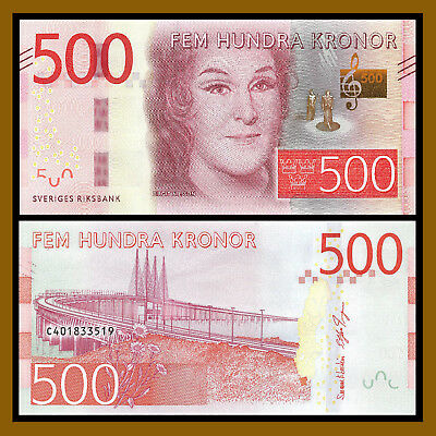 Sweden 20 50 100 200 500 1000 Kronor (6 Pcs Set), 2015-2017 P-69/70/71/72/73/74