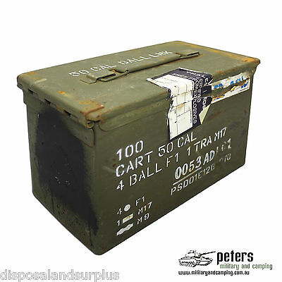 Ammo Box 50 Cal Ex Army Steel Ammunition Box Fully Sealed Grade A 2