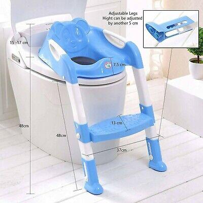 Children Baby Toddler Kid Potty Training Toilet Seat Trainer Urinal Chair Ladder 4