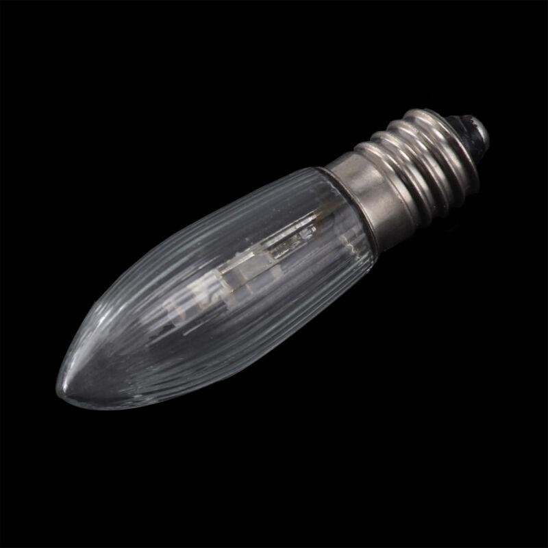 10Stk E10 LED 0,2W 10-55V Birnen Lampe Topkerzen Spitzkerze Riffelkerze matt jc 10