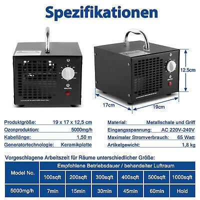 Ozonisator 5G Ozongenerator Ozon Luftreiniger 5000mg Leichengeruch