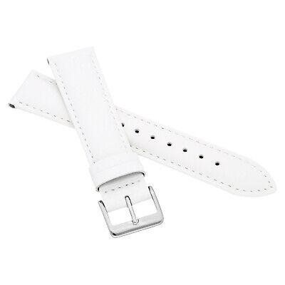 MARCHEL Lederarmband LLB Premium Glatt Silber Gold Schließe Uhrenarmband Uhr 8
