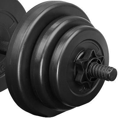 2x Set d'haltères courts revêtement plastique poids barres musculation 20 kg 3