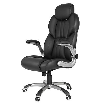 Office Chair Swivel Ergonomic Chair Foldable Armrests Computer Chair OBG65BK 2