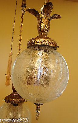 Vintage Lighting 1960s Hollywood Regency tri-globe chandelier 6
