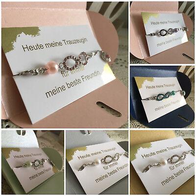 Trauzeugin Geschenk Hochzeit Perlen Fußkette Brautjungfer
