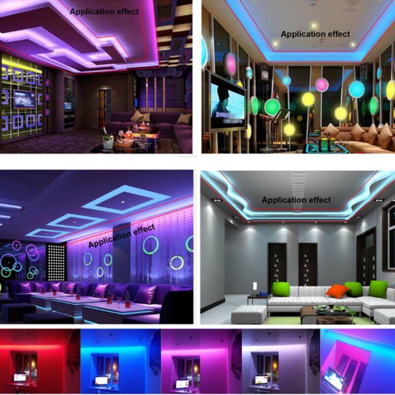 5m-30m LED Stripe RGB Wasserdicht Leiste Streifen 5050 Band Leuchte Lichterkette 3