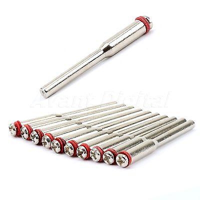 Steel Screw Mandrel Arbor Shank Cut-off Wheel Holder Dremel Shaft Tool 10x3.17m 2