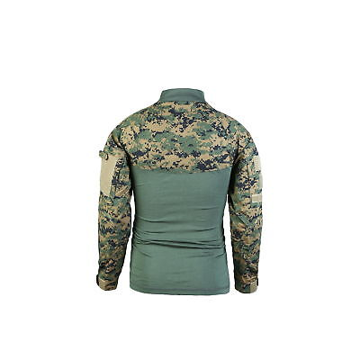 d73d18a74eb8 ... Mens Army Military Battle Combat Camo Tactical Uniform Hunting Game  Shirts Tops 8