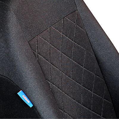 Schwarz-blaue Velours Sitzbezüge NISSAN SERENA Autositzbezug Komplett
