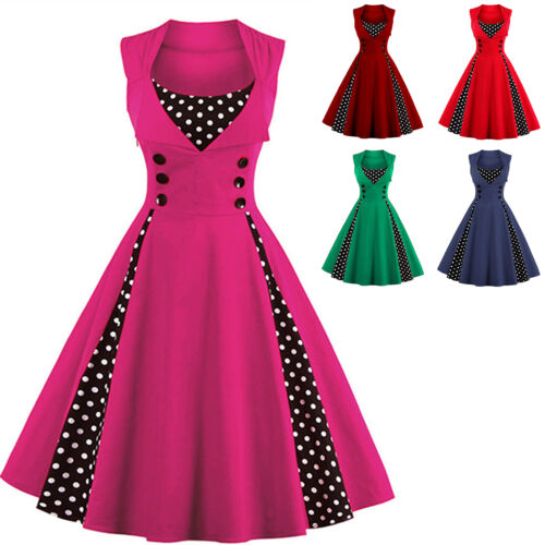 ROCKABILLY 50ER Swing Petticoat Vintage Hepburn Tunika Partykleider ...