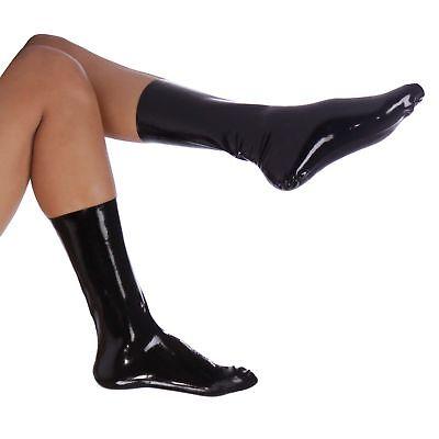 Latex Socken aus Rubber in schwarz, Einheitsgröße 3