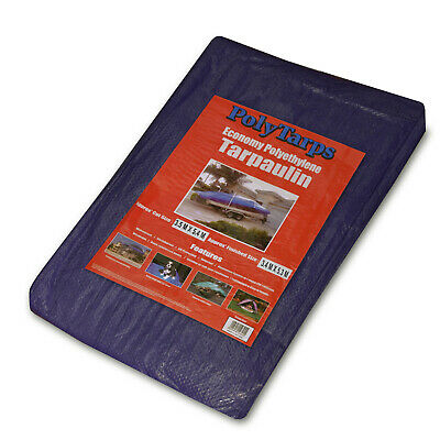 19 Sizes Waterproof Tarpaulin Ground Sheet Lightweight Camping Cover Tarp New 3