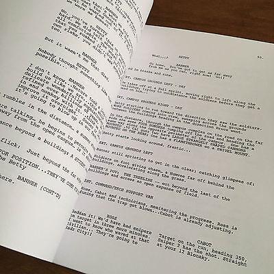 GFA THE INCREDIBLE Hulk * LOU FERRIGNO * Signed Full Movie Script AD1 COA