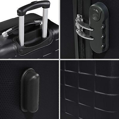 Set 3 piezas maletas ABS juego de maletas de viaje trolley maleta dura negro 6